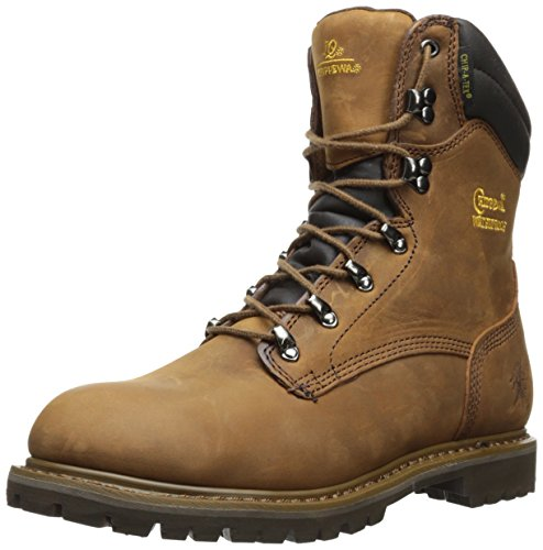 Chippewa Men's 8 Inch Heavy Duty Tough Bark WP Ins Lug Utility Boot,Brown,10.5 XW US