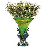 Design Toscano KY1043 Grand Plumage Peacock Sculptural Vase