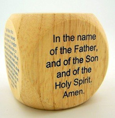 My Favorite Catholic Prayers Wooden Cube, 2 1/4 Inch (Gifts Catholic Religious)
