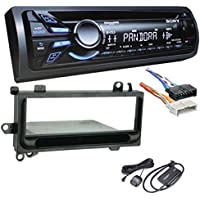 Sony CDXGT570UP CD/MP3 Car Stereo Receiver With Metra 70-1817 Radio Wiring Harness For Chrysler/Jeep 1984-06, Metra 99-6000 Single DIN Kit for 1974-03, & Sirius SXV300-V1 Vehicle Satellite Radio Tuner