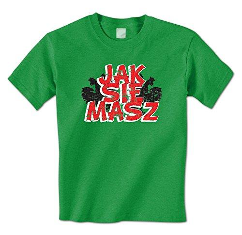Shirts Borat Tee - Jak Sie Masz -How are You? In Polish -Borat Quote Mens T-Shirt (Medium Kelly)