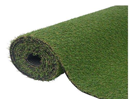 K&A Company Artificial Grass Plant Decor Garden Home Green 3.3'x33'/0.8''-1''