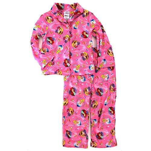 Disney Princess Girls Flannel Pajamas