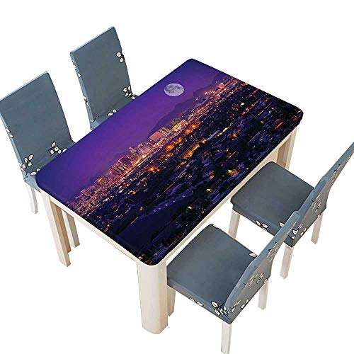 PINAFORE Table in Washable Polyeste Phoenix Arizona Full Over Phoenix Arizona Downtown Residential Areas Banquet Wedding Party Restaurant Tablecloth W45 x L84.5 INCH (Elastic -
