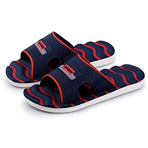 Sunny Men's Sandals Indoor Male Summer Beach Sandals Non-Slip Tidal Drag Bathroom Red nFLUyJo59o