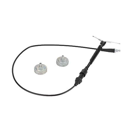 cable del acelerador con kit de cubierta de carburador de repuesto para Yamaha Banshee 350 YFZ350 87-06 Kit de cubierta de carburador