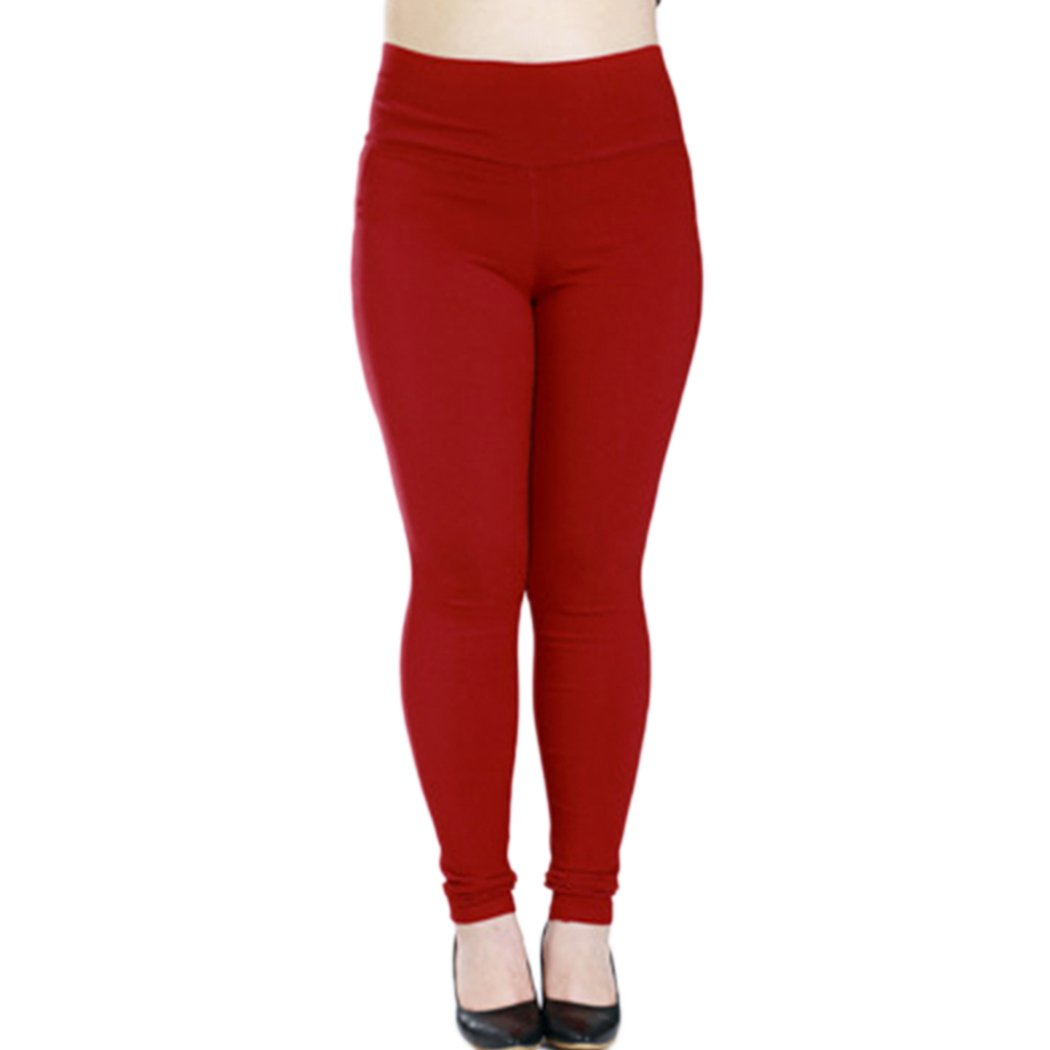 Raylans Women High Waist Stretchy Plus Size Leggings Pants Tights