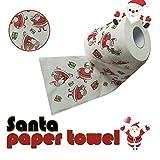 Fedi Apparel Christmas Toilet Roll Paper Santa Claus Printed Table Living Room Bathroom Tissue