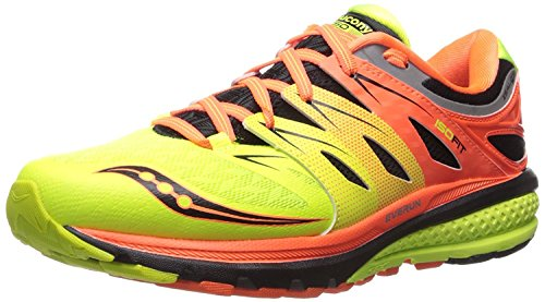Saucony Mens Zealot ISO 2 Running Sneaker, VIZIORANGE/CITRON/BLACK, 37.5 D(M) EU/4 D(M) UK