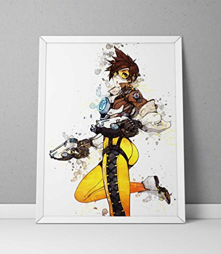 Overwatch print, Tracer print, Overwatch poster, Tracer poster, game poster, Blizzard N.026