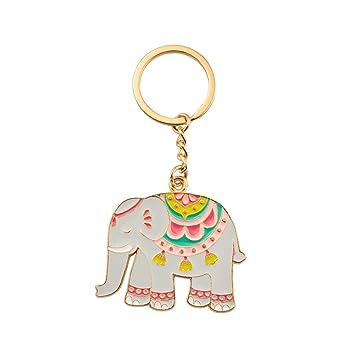 Llavero con diseño de elefante y mandala de Sass y Belle ...