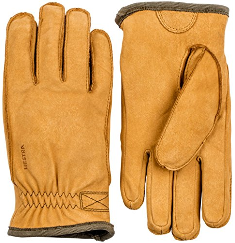 (Hestra Tived Leather Nubuck Glove,Tan,9)