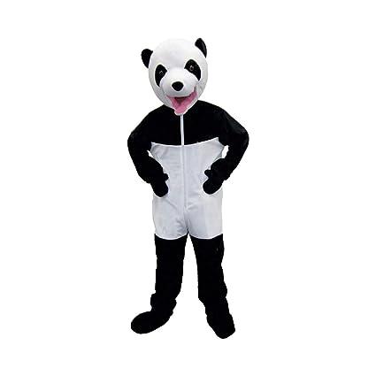 Dress up America Traje de panda gigante blanco y negro lindo
