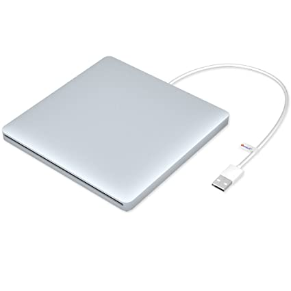 VersionTECH  USB Ultra Slim External DVD Drive Burner Optical Drive CD+/-RW  DVD +/-RW Superdrive Disc Duplicator Compatible with Mac Macbook Pro Air