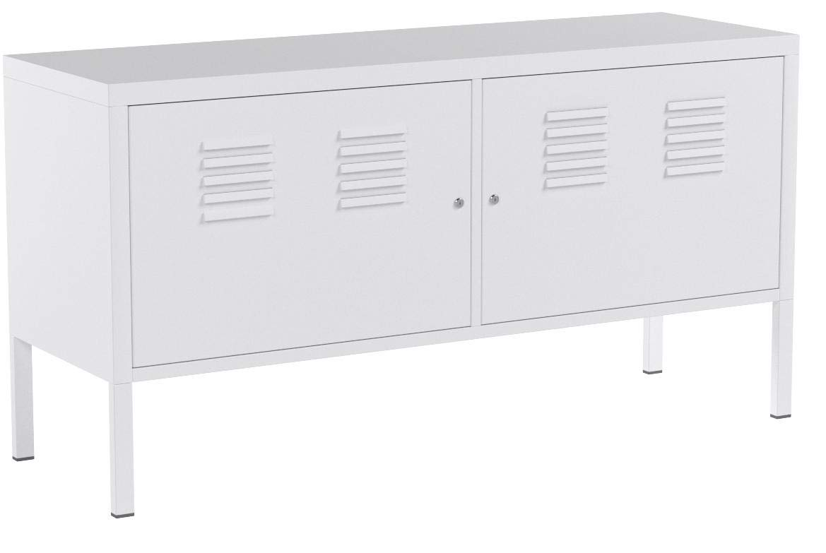 Ikea White Cabinet Tv Stand Multi-use Lockable by Ikea