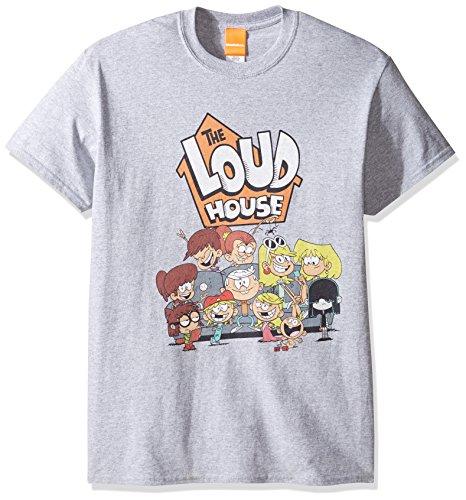 Nickelodeon Men's the Loud House T-Shirt, Sport Grey, Large