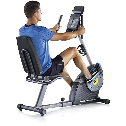 Gold's Gym Cycle Trainer 400R Exercise Recumbent Bike Tablet Holder FAN 16 workout -