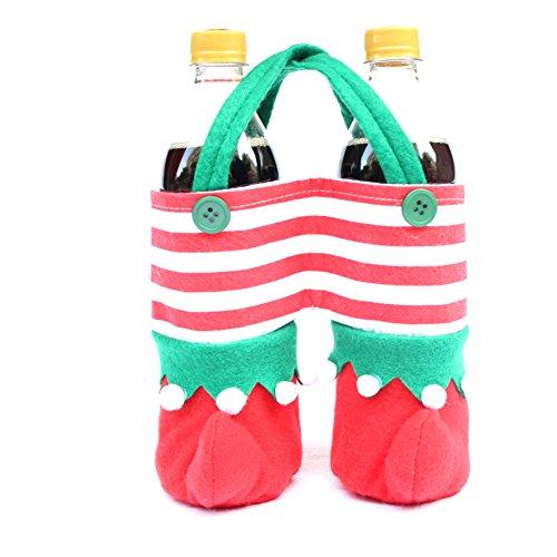 Santa Wine Bottle Gift Bags - 1