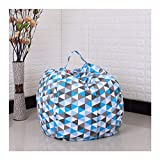 WHYQZ Storage Bean Bag Chair,Stuffed Dolls Storage,Stuff Sit,Toy Storage,Cotton Canvas Bonded with Durable Nylon,for Kids, 18 inch (Type J)