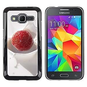 Paccase / SLIM PC / Aliminium Casa Carcasa Funda Case Cover - Fruit Macro Creamy Raspberry - Samsung Galaxy Core Prime SM-G360