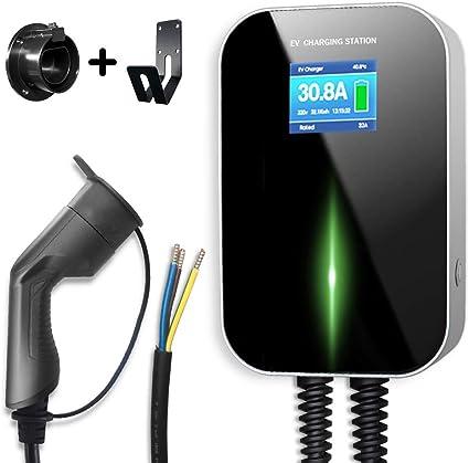 Wallbox Borne de Recharge Cable intégré 32A 7KWH MONOPHASE TYPE 2 IEC62196-2