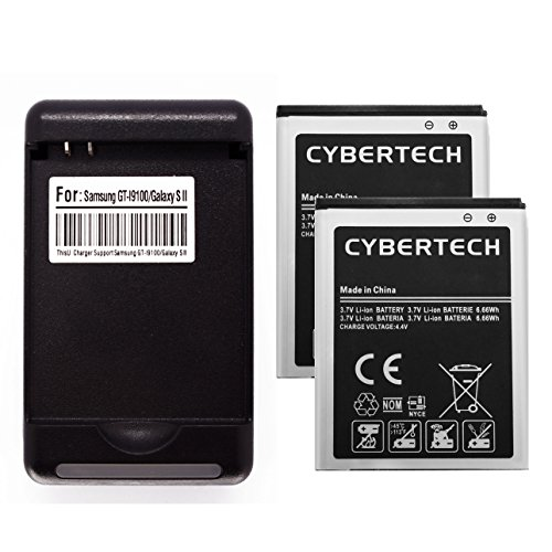 CyberTech 2 x High Power 1800mAh Li-ion Replacement Batteries + Multi Function USB Charger Compatible for Samsung Galaxy SII Epic 4G Touch SPH-D710 (Virgin Mobile) -  chgw+2xbat-D710-02