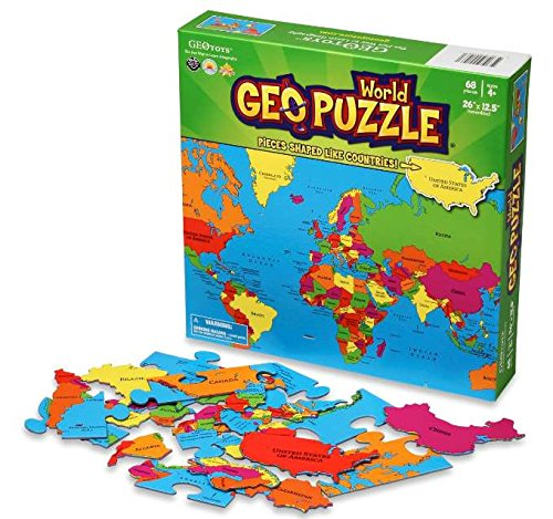 GeoPuzzle World Educational Geography Jigsaw