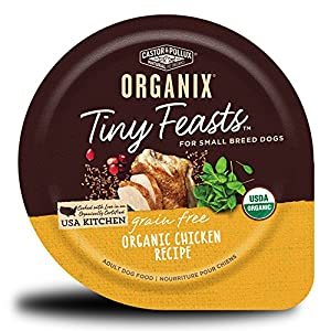 Castor & Pollux Organix Tiny Feasts Grain Free Organic Chicken Recipe Wet Dog Food, 3oz, Case of 12