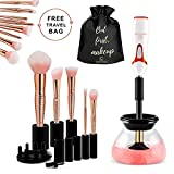 brush dryer rack - Makeup Brush Cleaner Machine, Electric Spinning Make up Brush Cleaner and Dryer, Professional Brush Cleaner Kit, Automatic Portable Brush Cleaner Device, Cosmetic Brush Cleaner Tool, Creatique