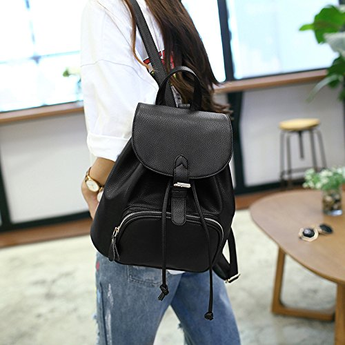 Leather Backpack Ladies Daily Bag Small Casual Travel Purse Women Girls EOzqxwEA