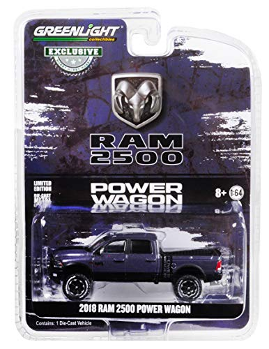 - 2018 Dodge Ram 2500 Power Wagon Pickup Truck Metallic Dark Purple Hobby Exclusive 1/64 Diecast Model Car by Greenlight 30016