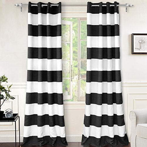 96 black curtain panel - 1