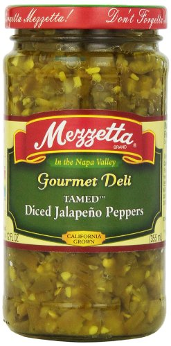 Mezzetta Gourmet Deli Tamed Diced Jalapeno Peppers 12 oz