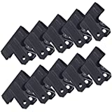Zicome Black Large Metal Bulldog Clips Binder Clips for Office Supplies, 2-1/2 Inch, 10 Pack