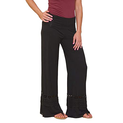 Amazon.com: Comfy Stretch Pantalon Women Causal Daily High ...