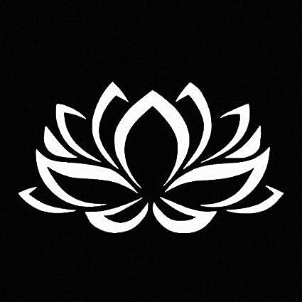 Amazon lotus flower white vinyl car window decal sticker white lotus flower white vinyl car window decal sticker white mightylinksfo