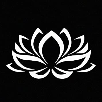 Amazon.com: Lotus Flower White Vinyl Car Window Decal Sticker White ...