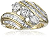 10k Yellow Gold-and-Diamond Anniversary Ring (1 cttw, I-J Color, I2-I3 Clarity)