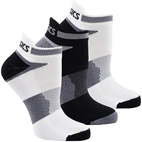 ASICS Unisex Quick Lyte Cushion Single Tab Socks , White/Bla