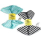 Baby Paper – 2 Pack of Crinkly, Sensory Toys, Black & White Stripe, Turquoise Zig Zag