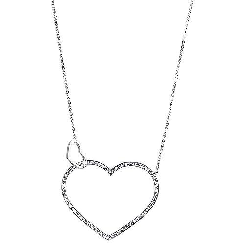 di prim'ordine f4e92 9bfba Beloved ❤ Collana lunga da donna in acciaio e cristalli ...