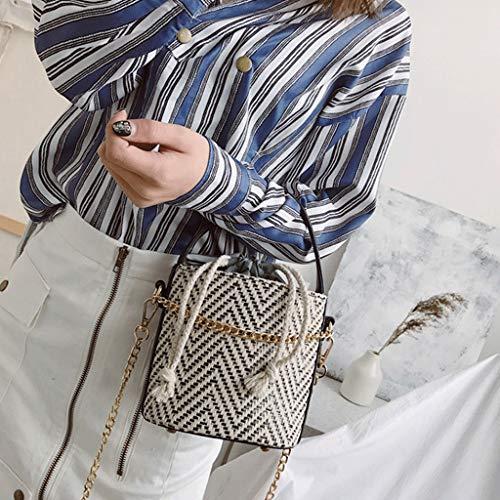 Paja Tamaño S Rxf 3 Hombro Bolsa color De Mujer Bolso 1 Playa Mensajero Pw1vW0fqgw