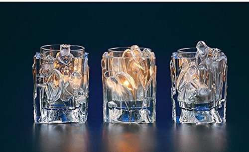 Club Pack of 12 Icy Crystal Christmas Nativity Votive Candle Holders 3.8'' by CC Christmas Decor