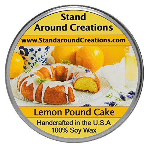 Stand Around Creations Premium 100% Soy Tureen Candle 8 oz.- Lemon Pound Cake- A Mouth-Watering Aroma of Warm Lemon Pound Cake w/Bakery Notes of Yellow Pound Cake w/Sweet Lemon Glaze. ()
