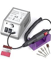 Retoo 30 W professionell elektrisk nagelklippare set med justerbar hastighet upp till 20 000 varv/min, nagelfil för manikyrpedikyr, för gelnaglar, akrylnaglar, gel, kallus borttagning, svart