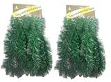 Holiday Crafts (TM) Set of 2 Decorative Christmas Garland 15 Ft. - Total of 30 Feet (Pine)