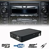 Stereo Bluetooth Handsfree A2DP USB SD AUX MP3 WMA CD Changer Adapter Interface