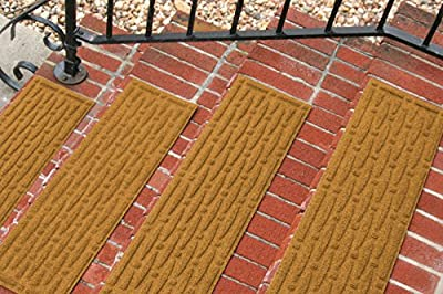 Aqua Shield Mesh Stair Treads, 8.5 by 30-Inch, Gold, Set of 4