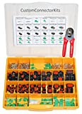 Deutsch DT Enhanced Sealed Pro Connector Kit DTE-450 Black With Crimp Tool: Black Enhanced Environmentally Sealed Automotive Electrical Connectors 14-20 Gauge 450 Piece Kit With 4-Way Indent Crimp Tool