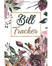 Bill Tracker: A Monthly Bill Payment Tracker book , small pocket size for Expense Checklist / Bookkeeping / Budget Finance Planning / Money Debt Keeper : vintage flower cover